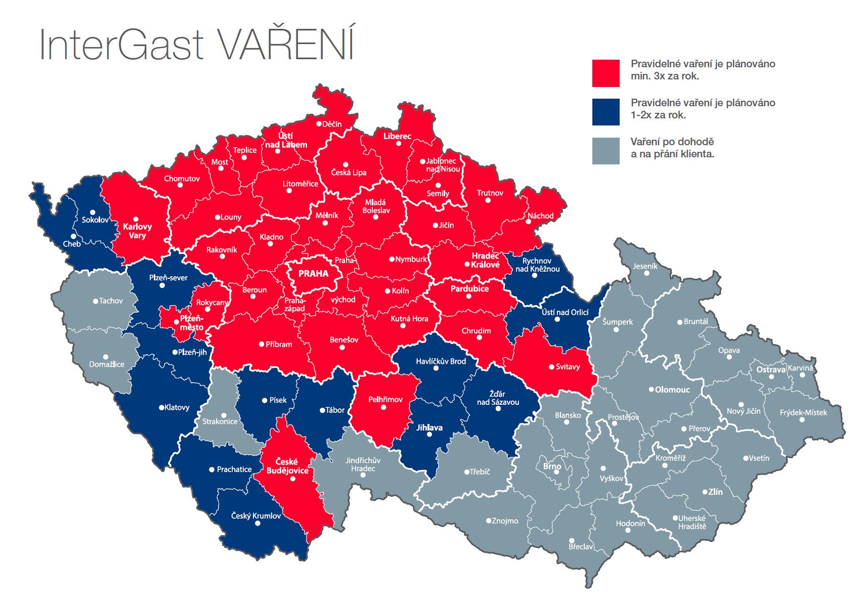 Mapa InterGast VAŘENÍ